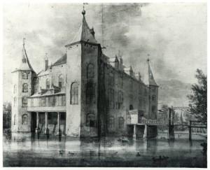 Kasteel Nederhorst vanuit het zuiden. Roeland Roghman, (1647)