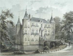 Gewassen tekening van Petrus Josephus Lutgers, 1871. (Centraal museum)